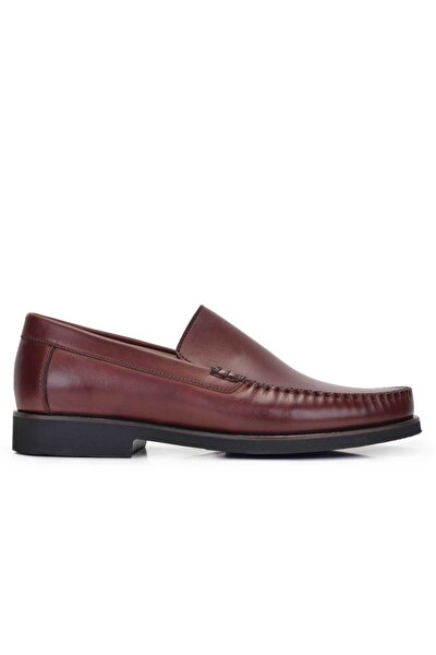 Erkek Kahverengi Hakiki Deri Günlük Loafer Ayakkabı -11511-