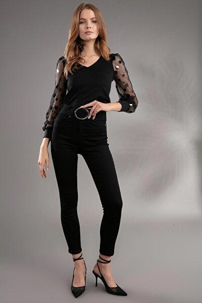 Kadın Yüksek Bel Skinny Fit Pantolon 10305