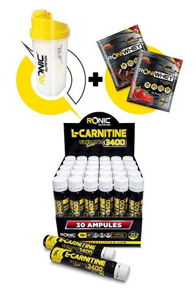 L - Carnitine 3400 Ultimate 30 Adet (böğürtlen Aromalı) Yağ Yakıcı
