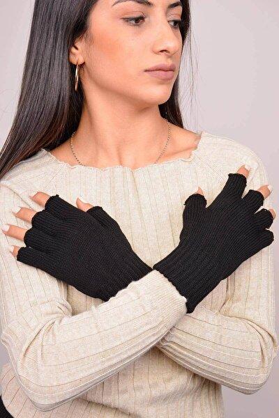 Kadın Siyah Parmaksız Eldiven