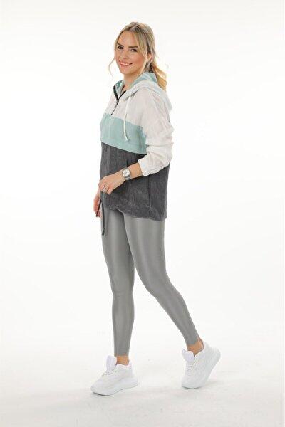 Kadın Mint Mint Kapüşonlu Sweatshirt