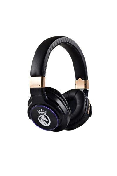 BT760 Kablosuz Gürültü Azaltıcı Bluetooth 5.0 Kulak Üstü Kulaklık Kulaklık - Siyah