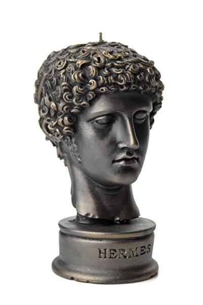 Siyah Hermes Dekoratif Büst Mum