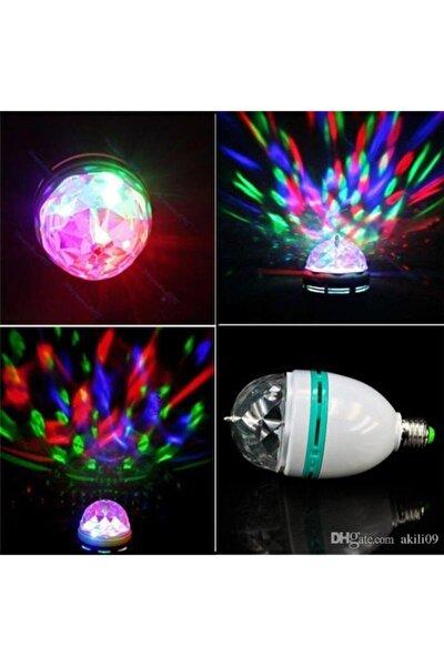 Led Döner Başlıklı Disko Topu Ampul Gece Lambası E27 Duy