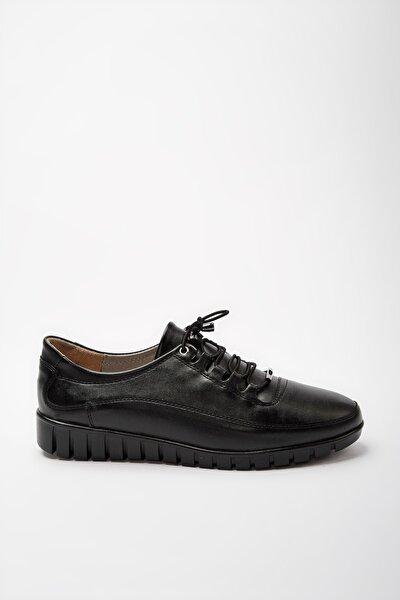 Sıyah Kadın Oxford Ayakkabı 01AYY188160A100