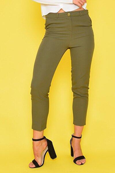 Kadın Haki Klasik Pantolon