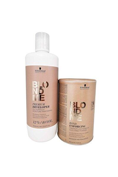 Blondme Premium Lift+9 Açıcı 450 G + Oksidan %12 40 Volume 1000 Ml