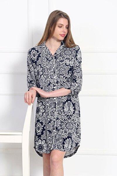 Kadın Lacivert Gecelik Elbise