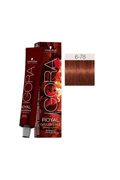 Igora Royal Opulescence 6-78 Koyu Kumral Bakır Kızıl