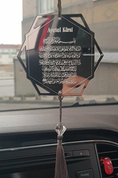 Pleksi Araba Süsü Altıgen Ayet-el Kürsi Dikiz Aynası Süsü
