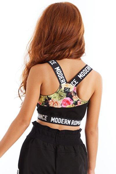 Modern Romance Çiçek Desenli Crop Üst