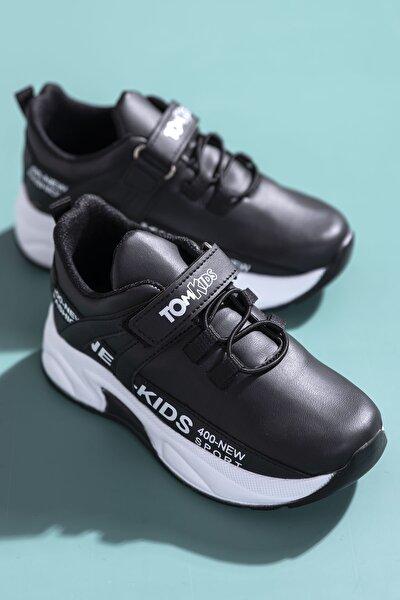 Unisex Çocuk Siyah Spor Ayakkabı Dg674