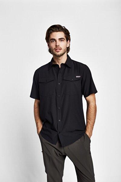 Erkek Siyah Outdoor Kısa Kollu Gömlek 19y-1019