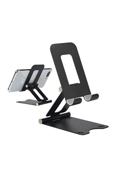 Masa Üstü Telefon Tutucu Ayarlanabilir Katlanabilir Metal Alüminyum
