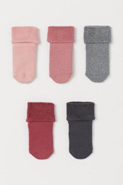 5'li Kaydırmaz Havlu Çocuk Çorabı