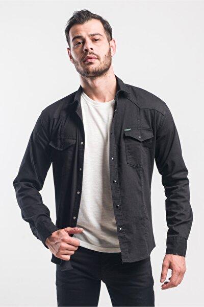 Çift Cep Çıtçıtlı Jean Gömlek