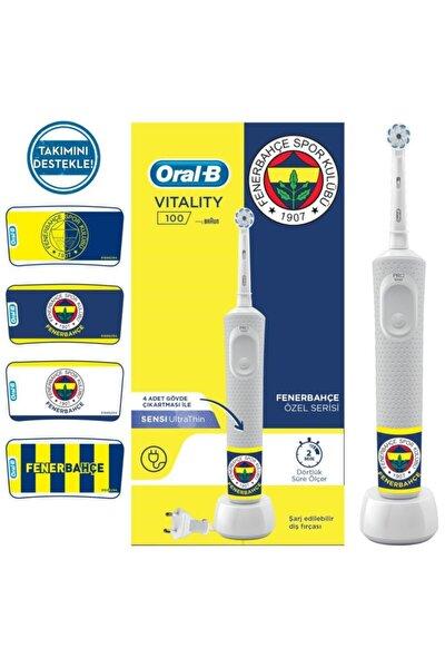 D100 Şarjlı Fırça Fenerbahçe Taraftar Paketi