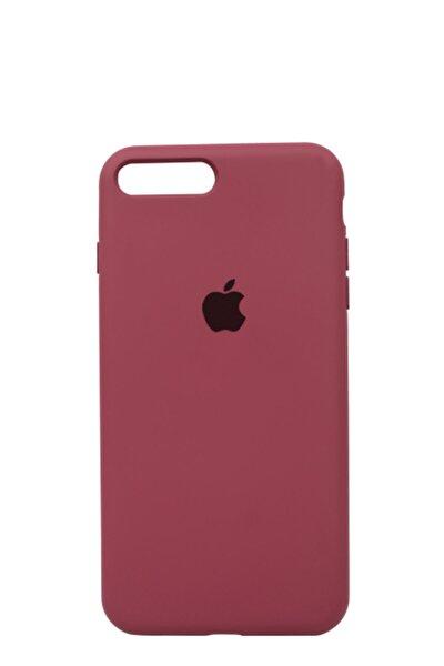 Apple Iphone 8 Plus Logolu Iç Yüzeyi Kadife Altı Kapalı 360° Tam Koruma Silikon Lansman Kılıf