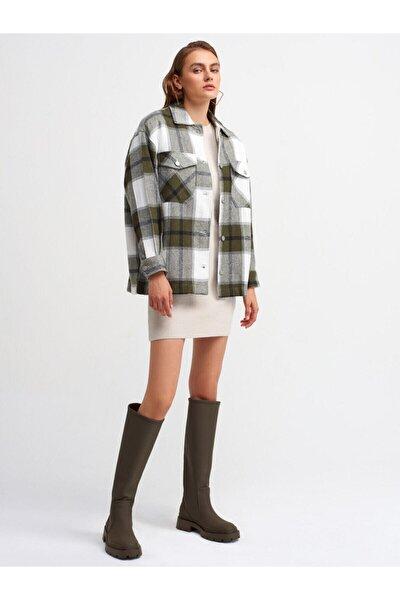 Kadın Haki Oduncu Gömlek