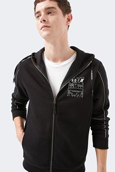 Fermuarlı Black Pro Sweatshirt