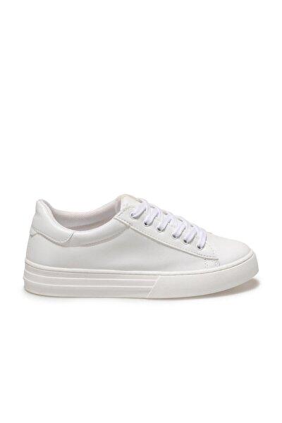 Elena Beyaz Kadın Havuz Taban Sneaker