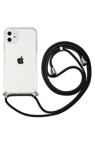 Apple Iphone 11 İpli Boyun Askılı Köşe Korumalı Şeffaf Kılıf