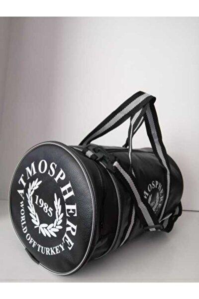 Unisex Siyah Silindir Spor & Seyahat Çantası