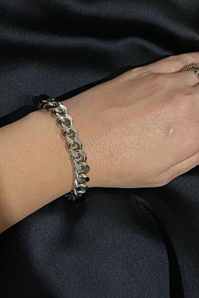 Gümüş Renk Klasik Zincir Bileklik