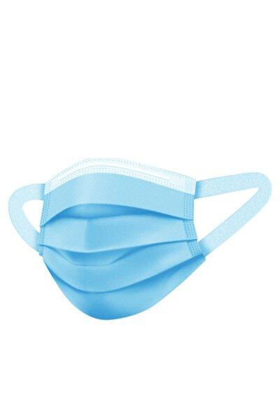 Mavi Meltblown Katmanlı 3 Katlı Cerrahi Yumuşak Elastik Kulaklı Maske 50 Adet