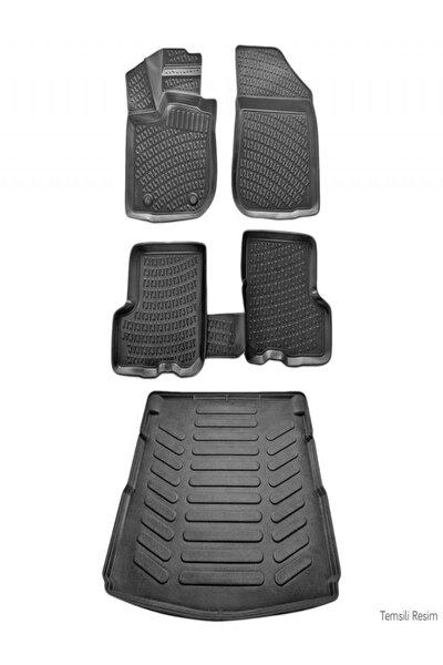 Fiat Egea Sedan 2015 Sonrası 3d Paspas Siyah & Bagaj Havuzu Set