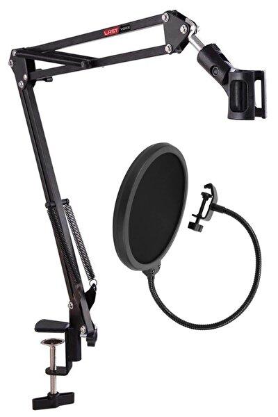 Nb39 Mikrofon Standı + Pop Filtre Seti