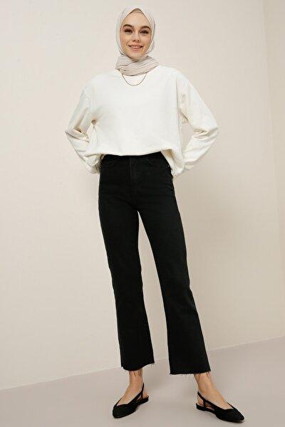 Kadın Siyah Doğal Kumaşlı Kot Pantolon 1395150