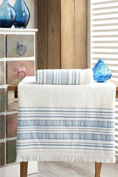 Banyo Havlu Takımı 70x140  50x90 Vip Mavi