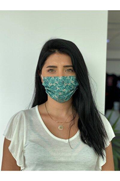 10 Adet Desenli Baskılı 3 Katlı Burun Telli  Meltblown Ara Katman Maske