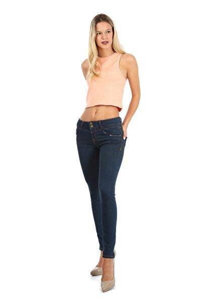 Kadın Mavi Jean Pantolon
