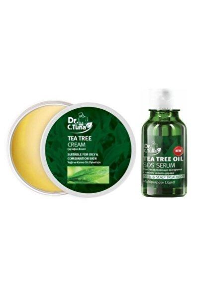 Dr.C Tuna Çay Ağacı Yağı Kremi 110 ml  Dr C Tuna Çay Ağacı Yağlı Sos Serumu 10 ml