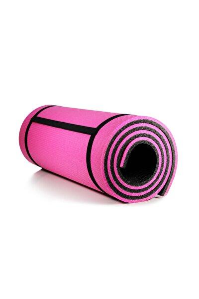 16 Mm Çift Taraflı Pembe-siyah Pilates Matı 180 Cm