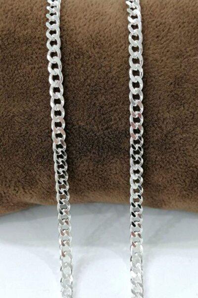 Silver Unisex Gurmet 3,6 Mm Gümüş Kolye Zincir Omr7650
