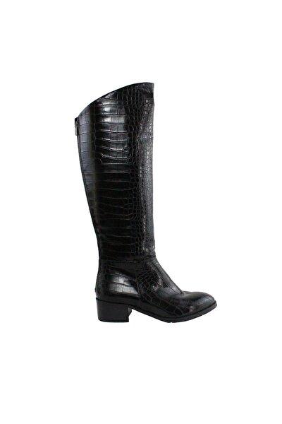 Kadın Siyah Croco Çizme
