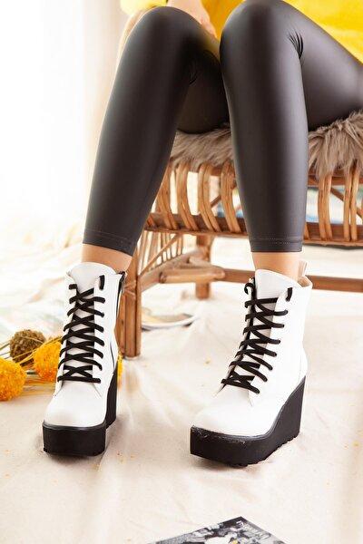 Kadın Beyaz Limoya Ayakkabı