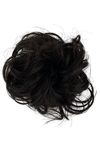Kestane Saç Lastikli Topuz Toka