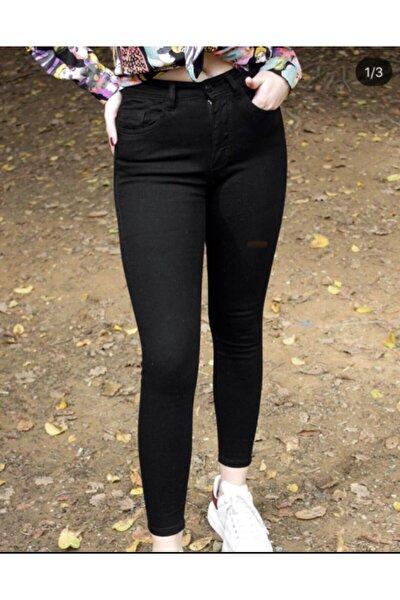 Kadın Siyah Jean Kot Pantolon