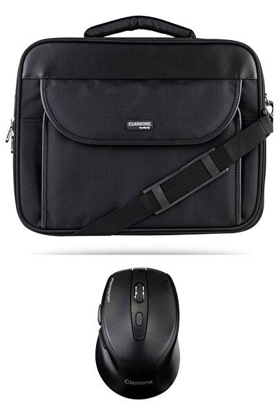 Siyah Kasnaklı Notebook Çantası+kablosuz Mouse G16001l 15.6  Inç