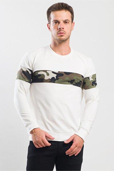 Kollar Ve Göüs Kamuflaj Detaylı Sweatshirt