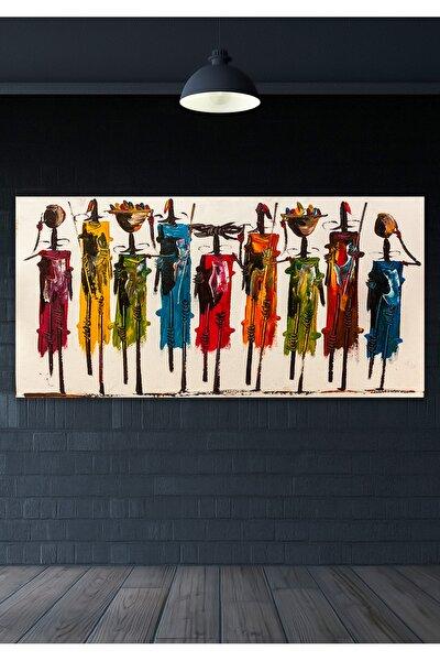 80x40 Totemler Duvar Kanvas Tablo