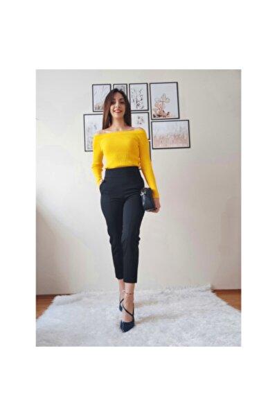 Kadın Siyah Yüksek Bel Pantalon