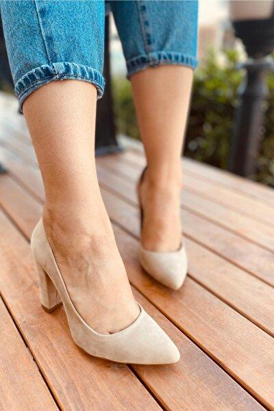 Kadın Bej Süet Ayakkabı