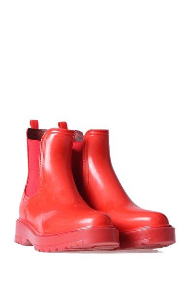 Kadın Kırmızı Günlük Yağmur Botu