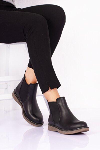 Kadın Siyah Kısa Topuklu Bot