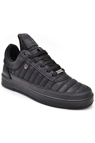 07 Siyah Siyah Sneaker Erkek Spor Ayakkabı